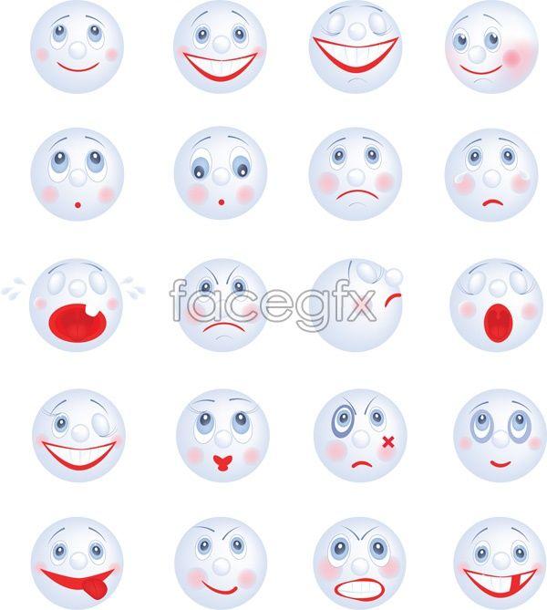 Cartoon smiley face vector