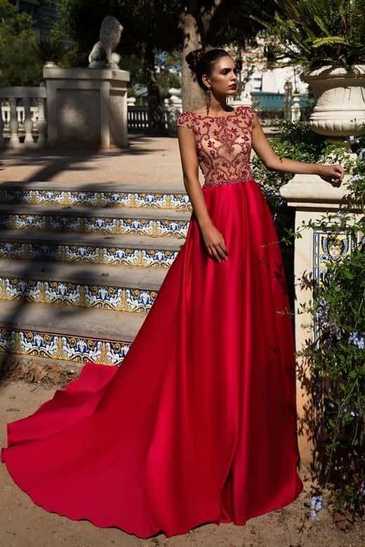 e0dc5134853e 45 vestidos rojos de noche que te hipnotizarán | Vestidos de noche ...