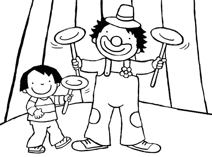 Anna in het circus! (kleurplaat)