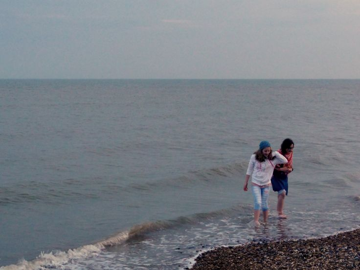 On the beach at Hastings.
