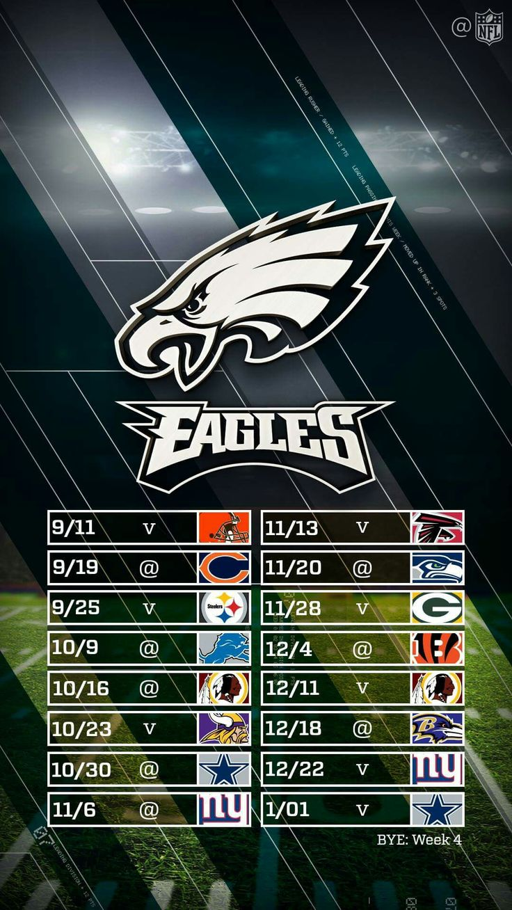 Eagles 2016 Schedule