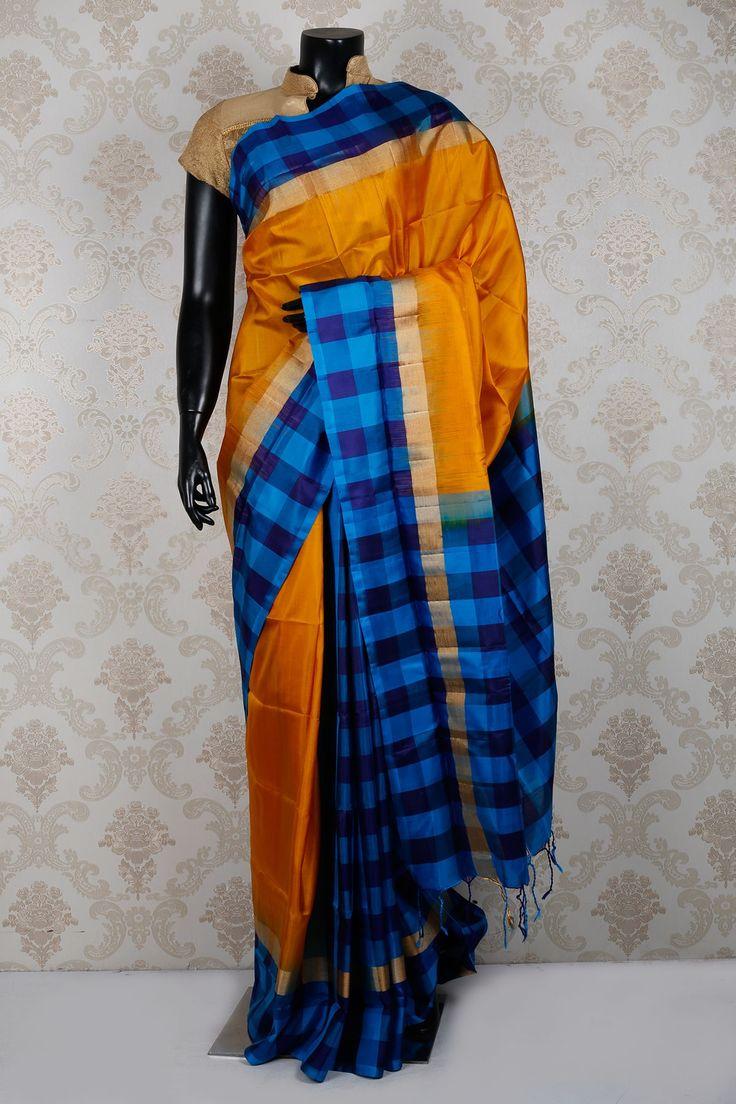 Jyothika traditional sari at shobi wedding saree blouse patterns - Mustard Yellow Pure Silksaree With Weaved Pallu Sr15524