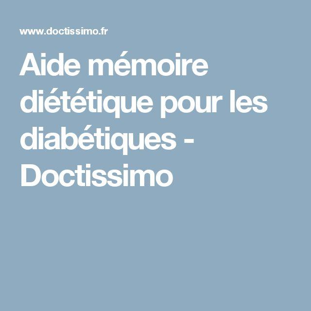 Aide mémoire diététique pour les diabétiques - Doctissimo