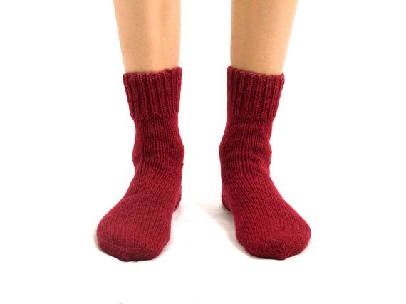 MEN WOOL SOCKS Touring back roads.  Hand knitted from by CozyLT, $26.00
