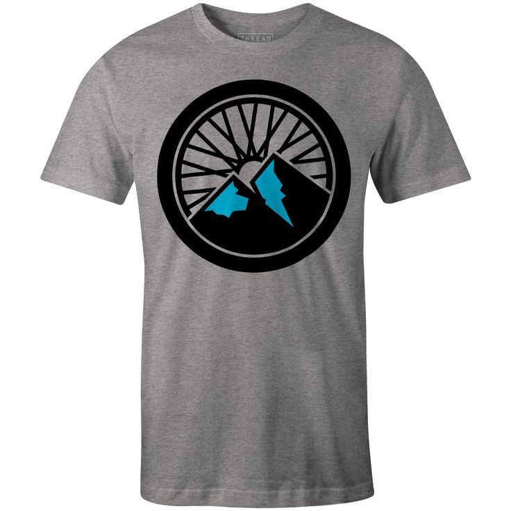 Mountain Bike T-Shirt Heather Grey By Lucian Radu