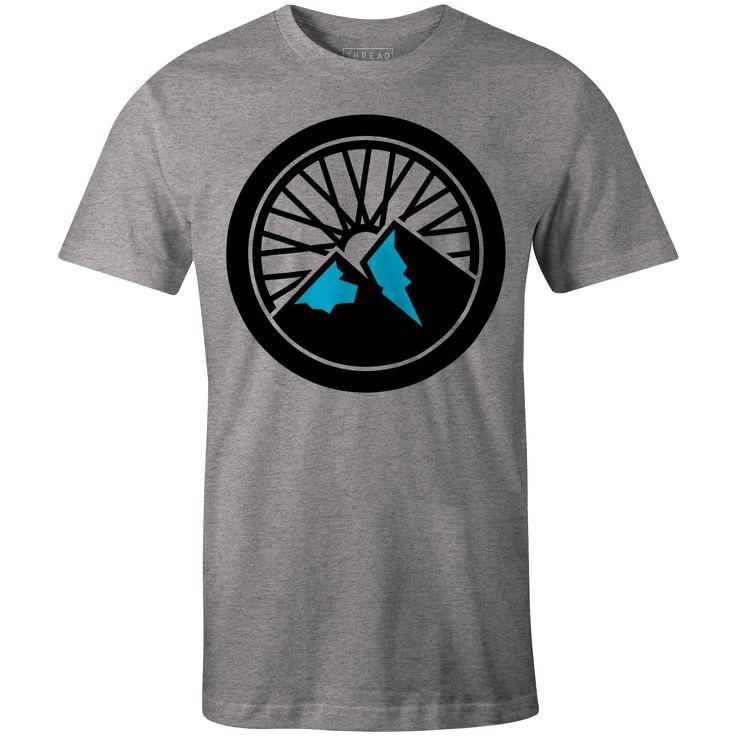 Mountain Bike T-Shirt Heather Grey By Lucian Radu