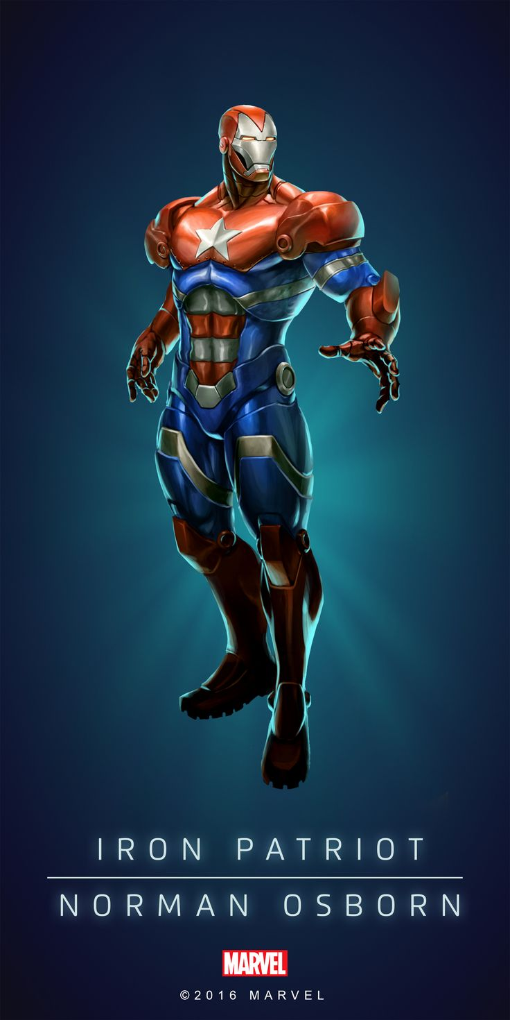 IRON PATRIOT (Norman OSBORN) | Unplayable Character | Profile Face | Marvel PUZZLE QUEST