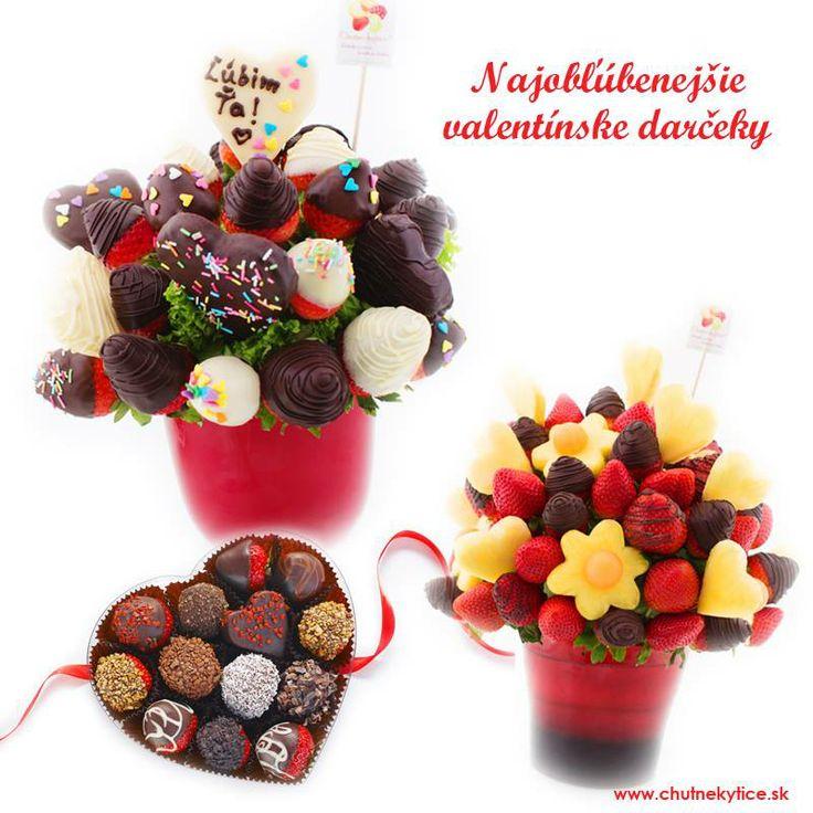 V Chutných kyticiach už poznáme najobľúbenejšie valentínske darčeky roka 2014  Najväčší záujem máte o tieto naše produkty: novinku Čarovný okamih http://www.chutnekytice.sk/kytica/72/carovny-okamih nezameniteľnú bonboniéru Srdce http://www.chutnekytice.sk/kytica/58/srdce a absolútny hit je Zamilovaná kytica! http://www.chutnekytice.sk/kytica/73/zamilovana-kytica