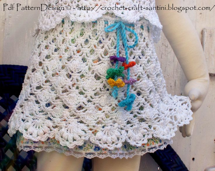 White Lace Crochet Skirt for Summer Girls by PdfPatternDesign