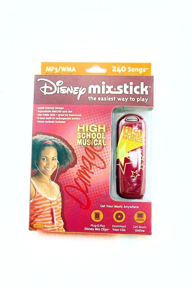Disney High School Musical Mix Stick MP3/WMA 512 MB Digital Music Player  #Disney