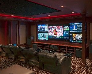 Best Theater Room Ideas Images On Pinterest Basement Ideas - Awesome media room designs
