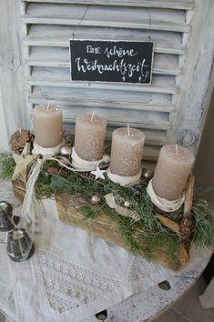 Adventsgesteck Waldweihnacht….   Etsy  – Weihnachten