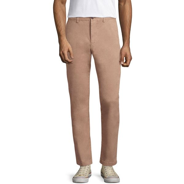 Jack Spade Men's Slim Fit Twill Chinos - Camel, Size 28 (€72) ❤ liked on Polyvore featuring men's fashion, men's clothing, men's pants, men's casual pants, camel, mens slim fit chino pants, mens twill pants, mens slim pants, mens zipper pants and mens slim fit pants