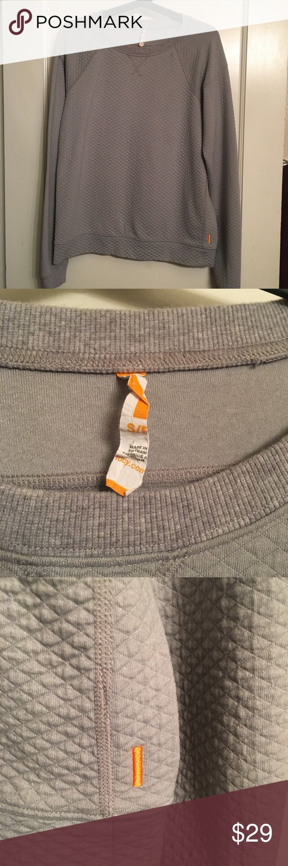 Lucy quilted sweatshirt is gray - size small. Great condition, no flaws. Size small lucy athletic / casual sweatshirt. Be sure to check out the rest of my closet for other name brand items at the best prices. Bundles of two or more items are 15% off. 7.10.10.31.85.7 Lucy Tops Sweatshirts & Hoodies