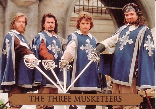 The Three Musketeers - 1993 - Kiefer Sutherland (Athos), Charlie Sheen (Aramis), Oliver Platt (Porthos), Chris O'Donnell (D'Artagnan)