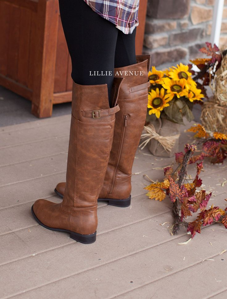 "The perfect fall brown boots. These boots look amazing with any of our leggings and skinny jeans. True to size. Approx measurements. - The heel height is 1"" - The opening circumference is 17.5"" - Calf"