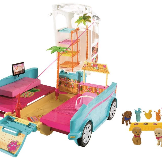 WIN Barbie Ultimate Puppy Mobile and Ken Doll