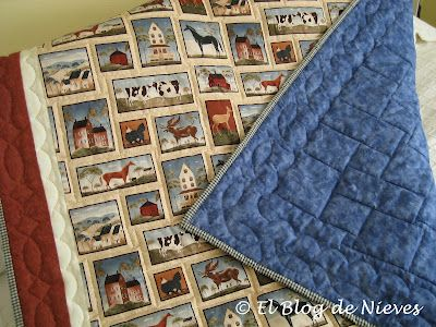 La manta para Marcos. handquilted Patchwork Quilting