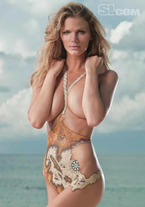 #BodyPaintMagazine #Art #BodyArt #BodyPaint #Model #Photography #BodyPainting  Brooklyn Decker - Sports Illustrated Swimsuit 2009 Location: Grenada, Spice Island Resort Photographed by: Rennio Maifredi Collection: Body Painting