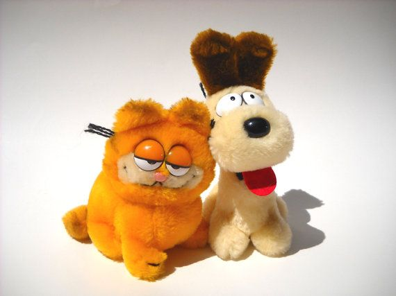 Vintage Garfield and Odie Plush 80s Toys by ManateesToyBox on Etsy, $13.85