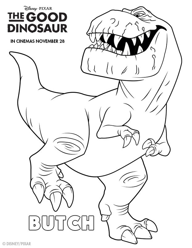 Delightful The Good Dinosaur Colouring Pages
