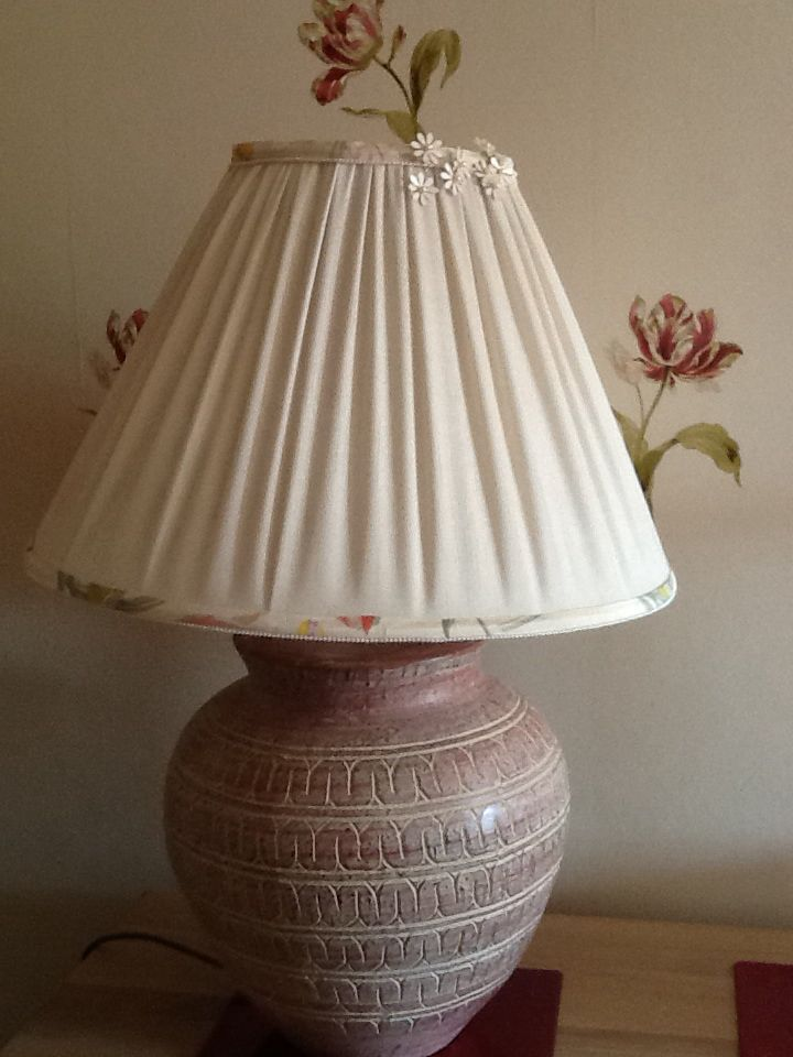 Lampshade to coordinate with table runner