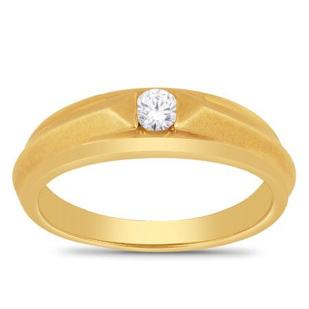 Her Special Day 10kt Yellow Gold 0 15ctw Diamond Men S Wedding