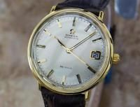 Omega DeVille Swiss Made Automatic Mens Gold Plated 1960s Dress Watch MX41