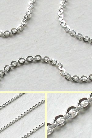 Sterling Silver 2.2mm Diamond Cut Trace Chain
