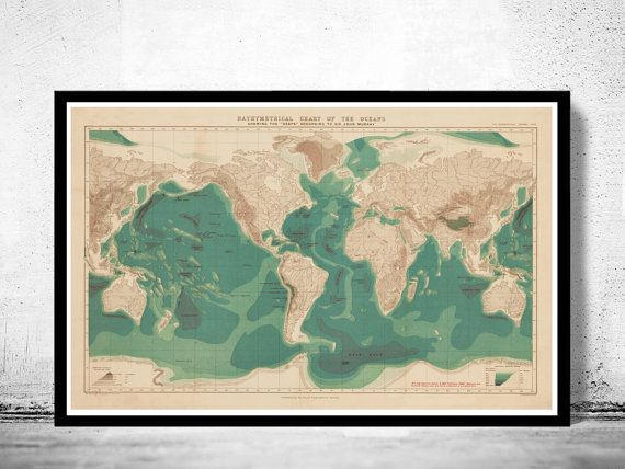 215 best old world maps images on pinterest old world maps bathymetrical chart of the oceans world map 1899 gumiabroncs Images