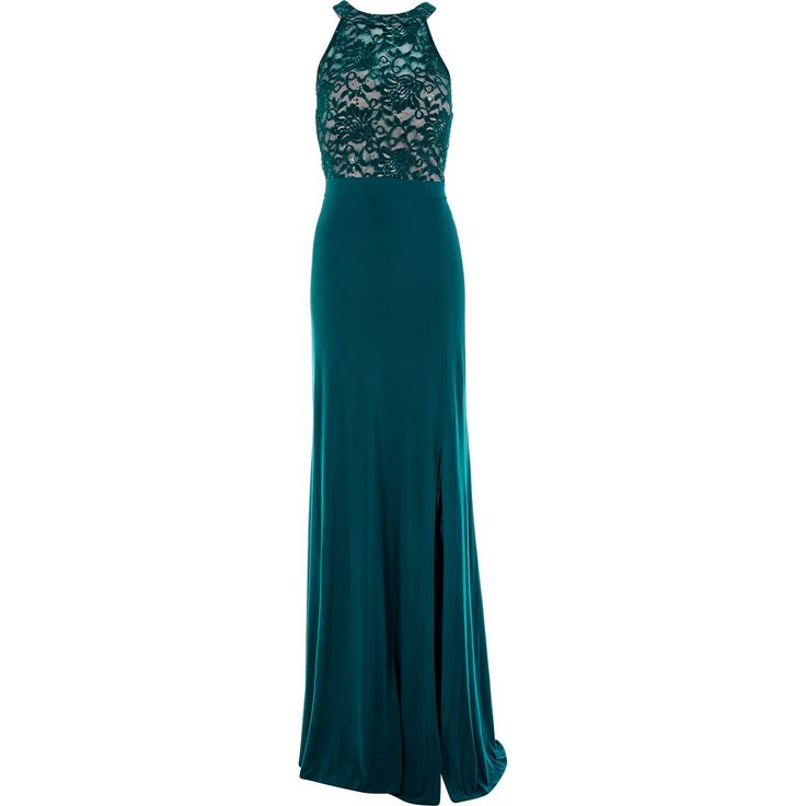 Nightway emerald lace sparkle gown tk maxx pretty for Tk maxx dresses for weddings