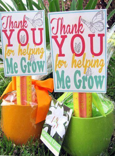 Teacher Appreciation Gift Idea with Free Printable