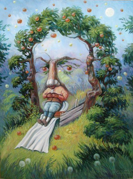 Картины-иллюзии Олега Шупляка