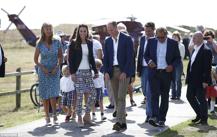 After heavy fog delayed their flight, the royals finally arrived on Tresco to visitthe Tr...