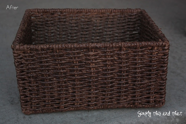Never thought of spray painting a basket before.  You should see the before and after!