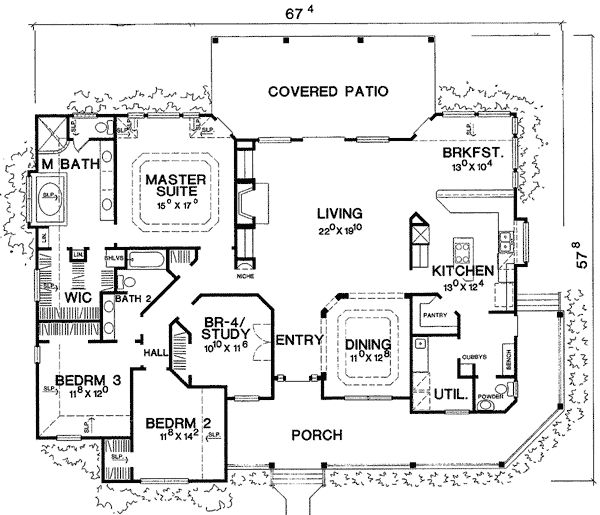 Country House Plans dhsw075786 Marvelous One Story Country House Plans