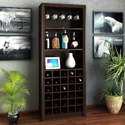Cavas de vino cavas pinterest - Libreros de madera modernos ...