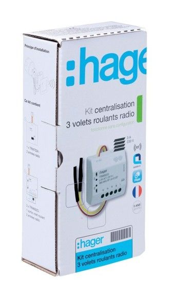 Kit Centralisation 3 Volets Roulant Knx Radio Hager Personal Care