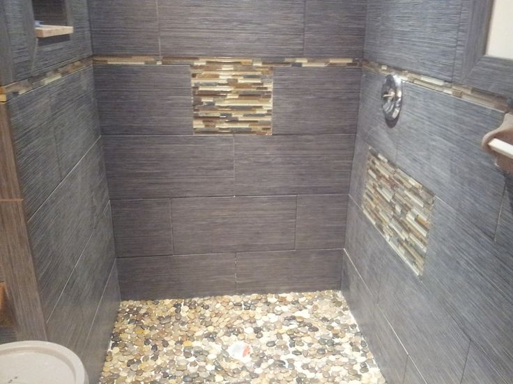 Gl Showers Tile River Stone And Porcelain Shower Installed In Margate