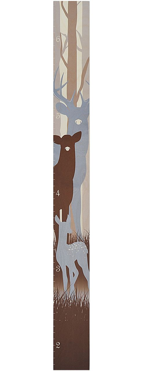 Deer Family Growth Chart | Natural Nursery Height Chart
