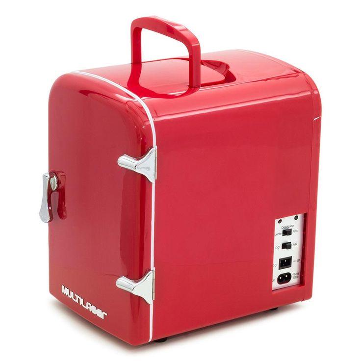 Mini Geladeira Retrô Multilaser TV007 Trivolt 4 litros  - Multilaser com o melhor preço é no Walmart!