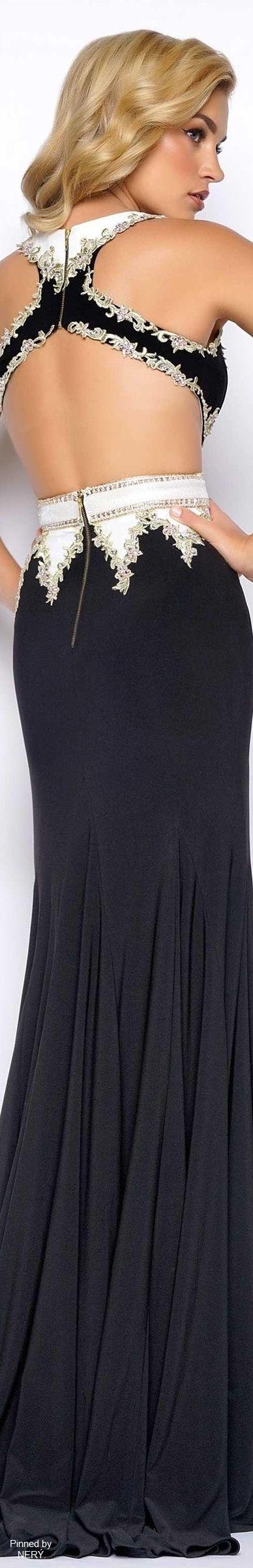 Mac Duggal Prom Dress 2017-BlackWhite