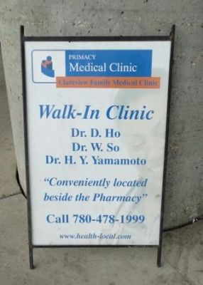 walk in clinic sign - Google Search