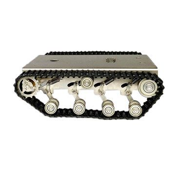 Stainless Steel Tank Intelligent Robot Chassis Frame with Shock Absorber Sale - Banggood.com