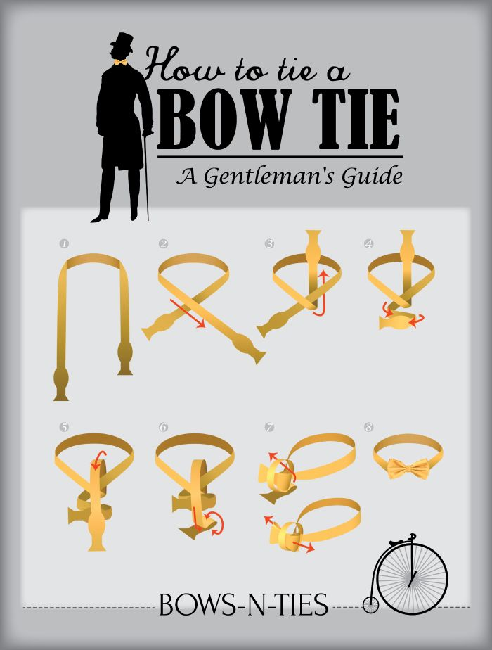 54 best bowtie sexyness images on pinterest mens bow ties bow a gentlemans guide to tying the perfect bow tie easy how to for ccuart Image collections