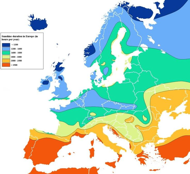 Europe and annual sunshine hrs; What can you really handle? (climate, warm) - Temperature, sun, sunlight, rain, hurricanes, tornadoes, climate, forecasts, humidity, heat, snow... - City-Data Forum