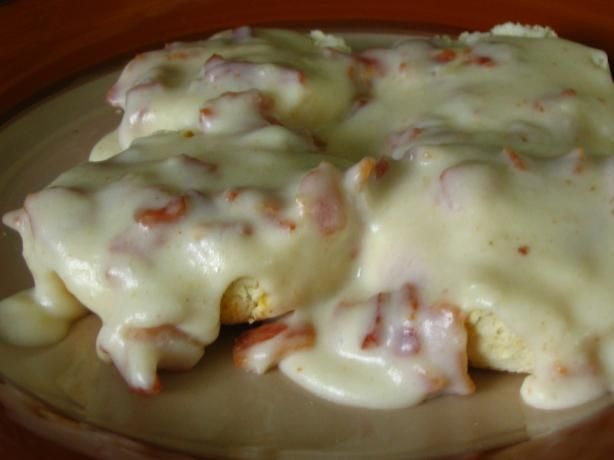 "Bacon Gravy: ""This is the only way I like biscuits and gravy. Bacon-y goodness!"" -Lizzie"