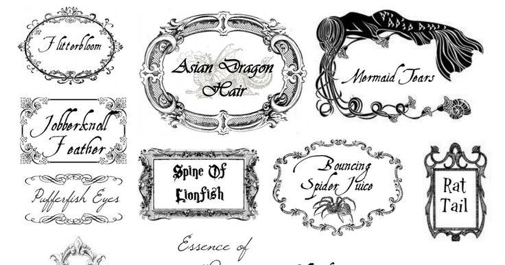 Harry Potter Potion Labels Saving with Sarah.pdf - Google Drive