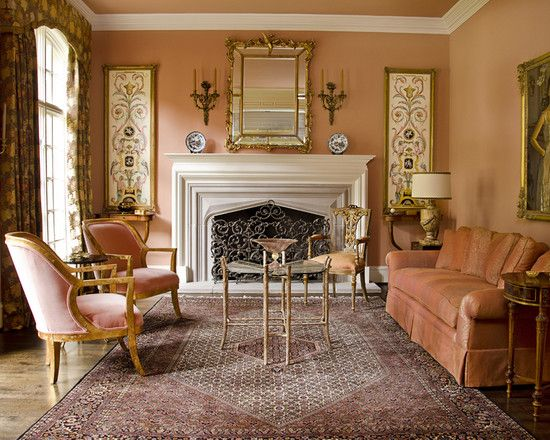 Living Room Peach Sofa Design, Pictures, Remodel, Decor and Ideas