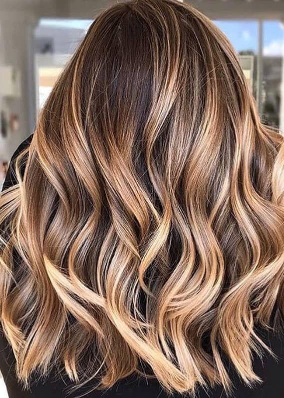 Fresh Caramel Balayage Hair Coloring Highlights For Women 2020 Brunette Hair Color Spring Hair Color Warm Light Brown Hair